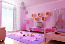 Girl and Teenage Bedroom