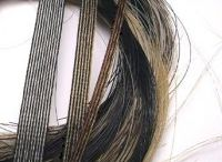 Woven horsehair ribbons / Nanna Salmi weaves horsehair into a miniature textile. Each ribbon is custom made with your own horse´s hair. The ribbon can be a combination of many horses hair too; mother and daughter, best friends, hair from all of your horses...