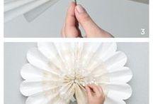 flores de papel creo y seda