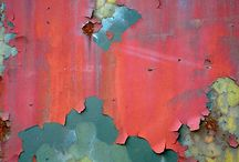 Rusted and peeling paint