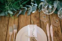 Green and White Garland wedding by Flamboijant