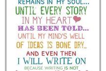 Writing & Inspiration...