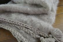 Mohair Blankets / Knitted Mohair throws, hand brushed with crochet and knitted edges