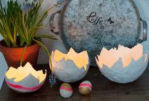 Osterdeko / Dekoration für Ostern, Ostereier bemalen, Osterdekoration, Easter Dekoration, Deko, Oster DIY, DIY zu Ostern