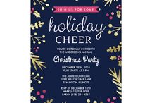 Christmas Party Invitation Cards / Christmas Party Invitation Cards