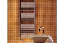Bathroom towel radiators / Showing different types of modern, bathroom towel radiators