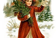 Vintage postcards Christmas