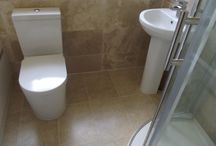 Natural Stone Bathroom / A bathroom finished with Travertine Marble. http://www.ppmsltd.co.uk