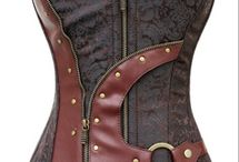 Steampunk / The growing trend of Steampunk blends fashion & machinery for a grungy, futuristic look (as in...futuristic if you were in the late 19th century)