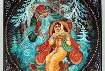 Russian winter postcards & art