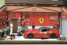 Diorama Oficina Carro Ferrari 599XX - Escala 1:18 - Tamanho 48L x 26H x 22P - Personalizada