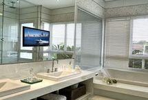 Sala de Banho / Veja lindas inspirações de banheiro social, ideias de lavabo e modelos de salas de banho que vão te inspirar! Confira também decoração de sala de banho e várias dicas de decoração de sala de banho.  Você vai essas ideias de sala de banho decorada, aproveite! #saladebanho #lavabo #banheirosocial #dicasdedecoracaodesaladebanho #ideiasdesaladebanho