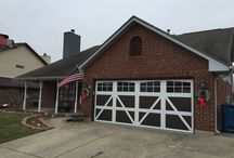 Curb Appeal / A new garage door added curb appeal and value to this home.  Look at the difference!
