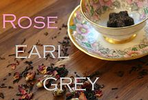Rose Earl Grey / An inspirational board centered around the experience of drinking a Rose Earl Grey teadrop.