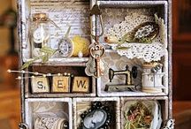 Heirloom ~ Collages or Vignettes Display of Treasures With a Theme / by The Studio @ Northstarz ★