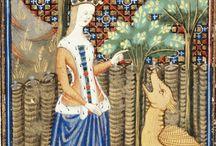 Women, Dress, Medieval Sideless Surcoat