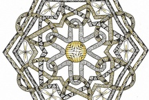 Judy's Celtic Knot Designs / I have become very interested in designing Celtic Knots. Many of the ones I draw are far from traditional. I also teach many different methods for drawing these Celtic Knots. For information on my classes visit my blog: http://creativedoodlingwithjudy.blogspot.com.au/