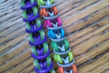 Loom band creations / Loom band bracelets and charms