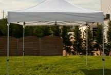Tentes pliantes SPORTING PLUS / Des tentes pliantes modulables, toile nylon 300gr/m².