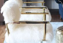 Room Decor / Vision: White on white base with Metallic,gold,silver accessories, shades of black&grey.