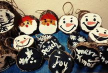Diy wooden christmas ornaments by me!!