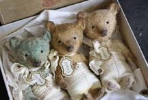 Vintage and well loved teddies / its all about bears - mainly vintage in good condition and bad - love them anyhow xx