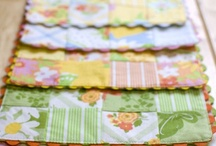 Coasters, Placemats & Mugrugs / inspiration board for mini patchwork quilt #patchwork #quilting #chezvuesquilts