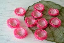 organza çiçekler