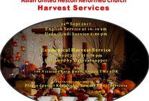 Harvest servjces in Heston Asian United Rrforned Church