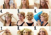 make up, hair, ect
