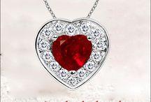 Radiant Ruby Jewelry Set