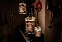 Homemade Whiskey bottle lamp