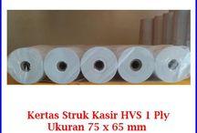 Kertas Struk HVS / Menjual berbagai jenis kertas struk HVS untuk mesin printer kasir restoran, tempat parkir, spbu, mesin edc, mesin atm, dll