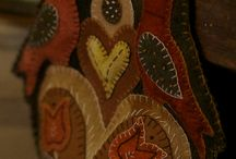 Wool embroidery