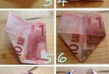 Knutselen geld leuk verpakken
