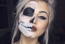 skull makeup / Here you can find some interesting ideas for a scary makeup...