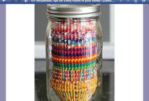 Cupcake papers - mason jar holder