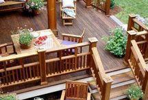terasa cu balustrada lemn