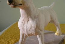 Keramika-socha angl.bullteriér / mé výrobky