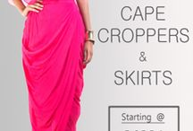 Buy the amazing range of crop tops and skirts!! Shop Now Only At Smriti Apparels!