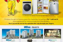 Olive News, Banners, Offers !! / This board is all about New launches, Offers from Olive Builders.