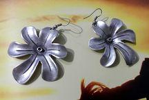 Daisy Silver Earrings, Tribal Earring, Silver Boho Earring, Silver Earrings, Gypsy Earrings