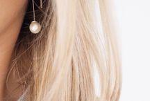 Simple hook earrings.