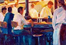San Francisco series Paintings / A series of oil and acrylic paintings created of San Francisco.