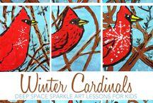 Grade 3 winter art