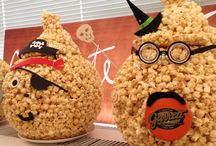 Garrett Popcorn Jack-O'-Lanterns / We handcrafted up these special #GarrettPopcorn Balls for our #GarrettHalloween festivities at the office today!  What are you doing to celebrate All Hallows' Eve? / by Garrett Popcorn Shops