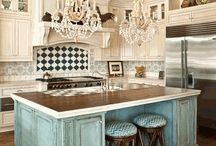 Kitchens / Since one of ArtWorks Northwest's specialties is refinishing kitchen cabinets and countertops, this board is inspiration for all styles and colors.  http://www.artworksspokane.com / by Nancy Jones
