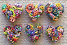 bordados corazones