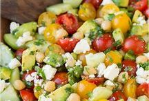 Avocado chick pea salad