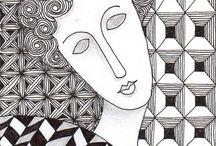 zentangle faces